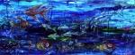 Lipstick Fish, oil on canvas