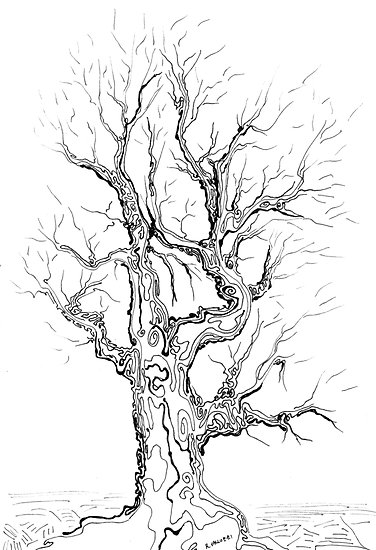 how to draw an abstract tree