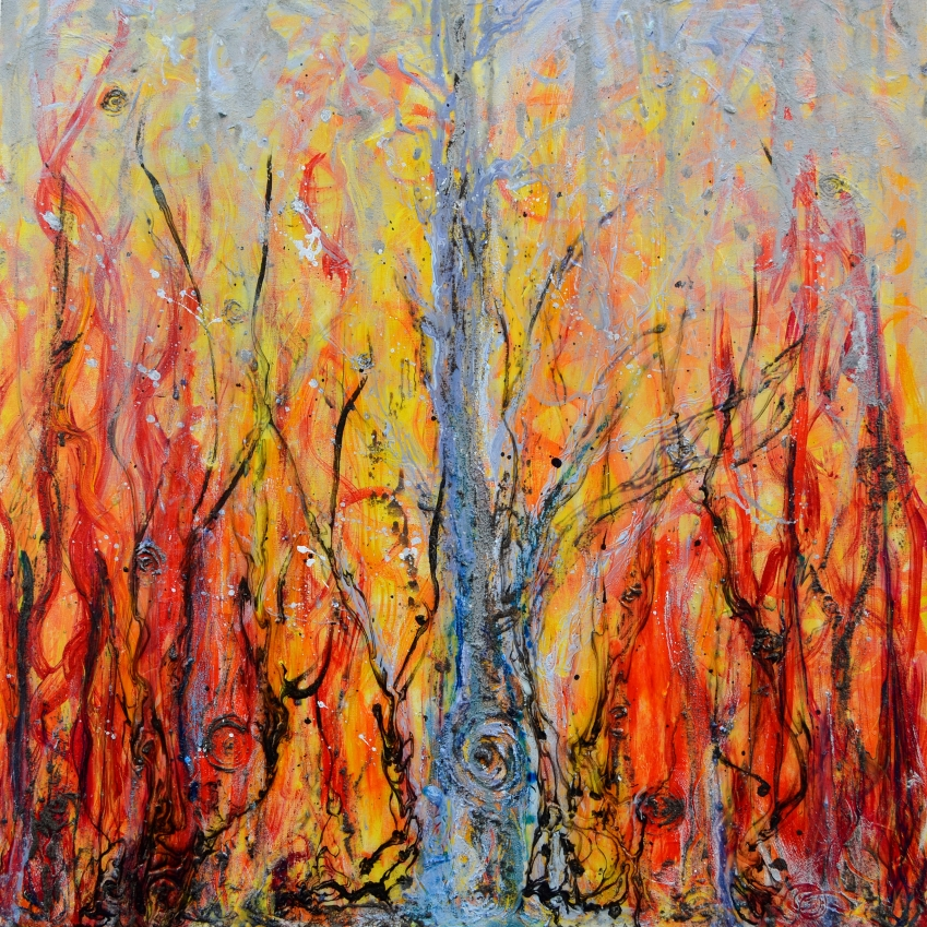 Prometheus, 30 x 30, acrylic on canvas;  https://squareup.com/market/nerdly-painter/prometheus-tree-of-life