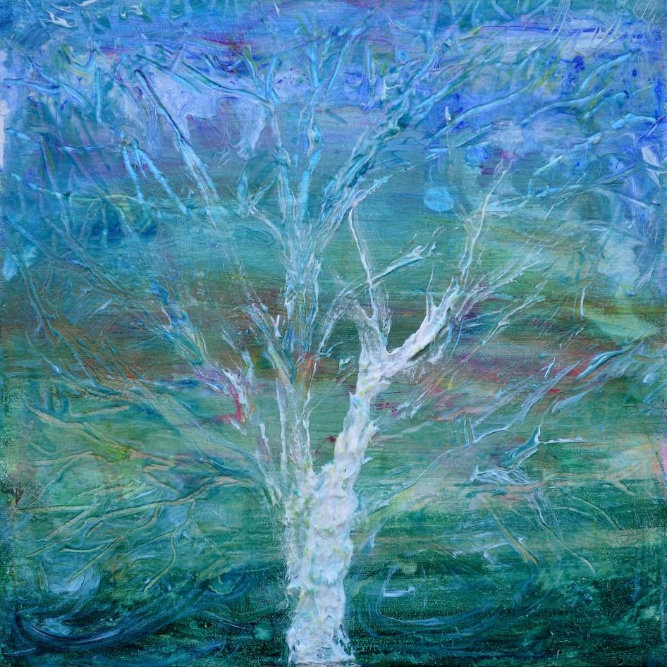 Apparition, acrylic on canvas
