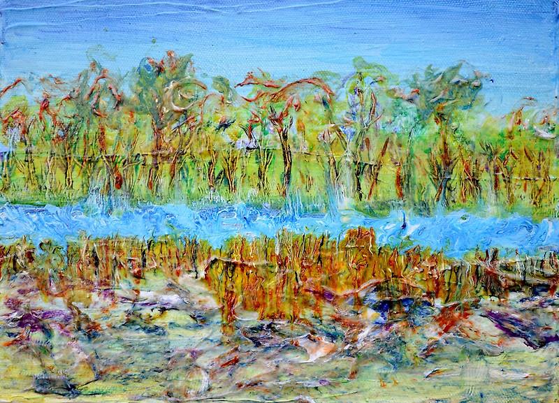 Marsh Inlet, 12 x 16, acrylic on canvas;