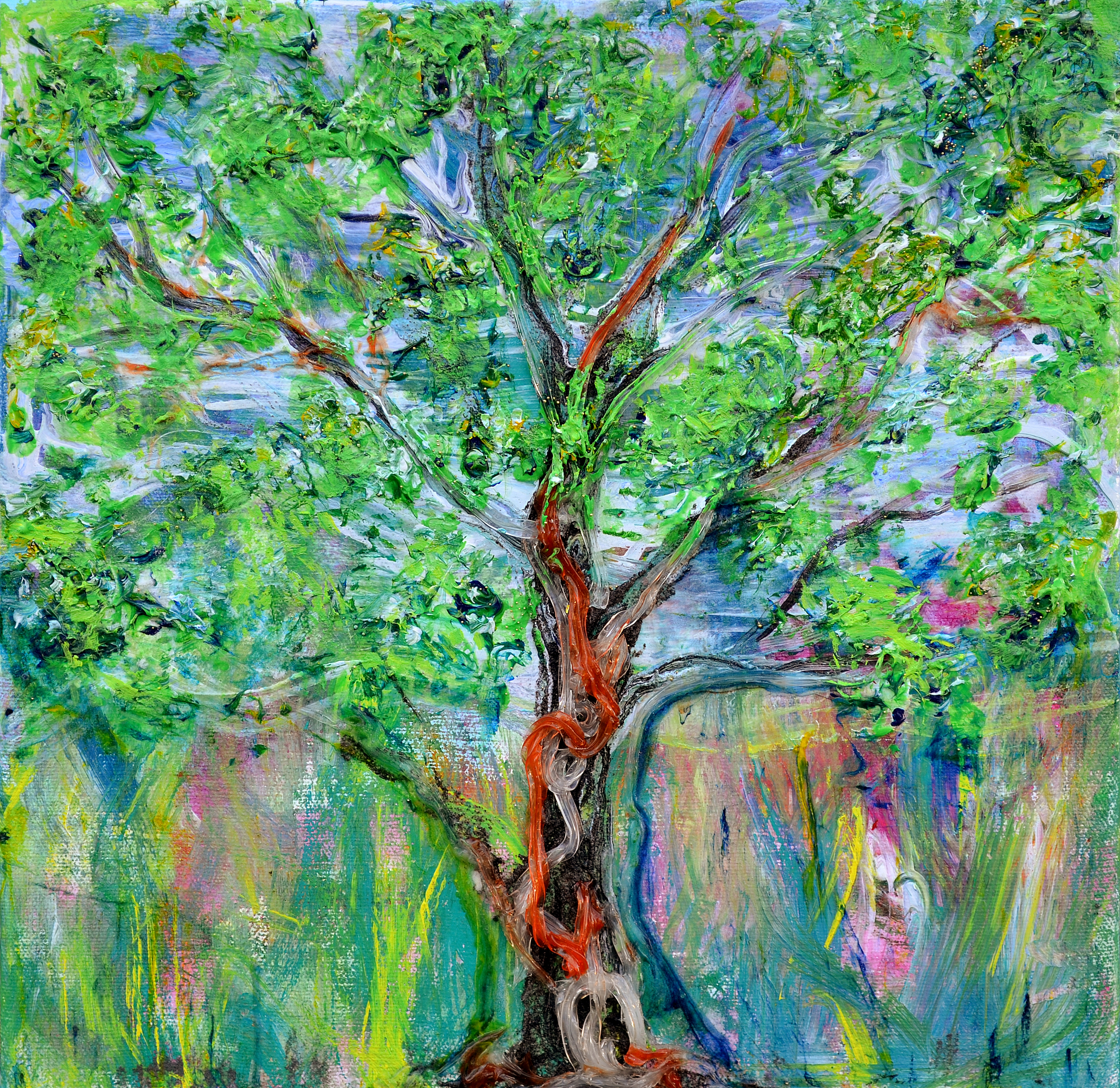 Spring tree idea nerdlypainter for Spring canvas paintings