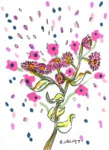 bouquet art card